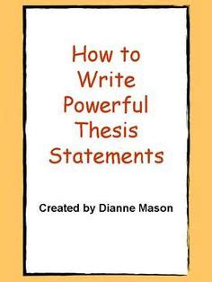 Mystery thesis statements